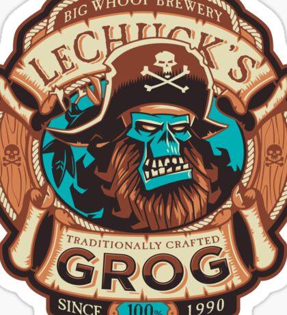Ghost Pirate Grog Sticker