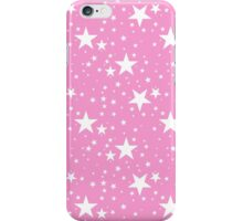 Precious Pink with White Stars Pattern iPhone Case/Skin