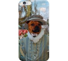 Staffordshire Bull Terrier Art - Venetian Court, Ministrel Scene iPhone Case/Skin