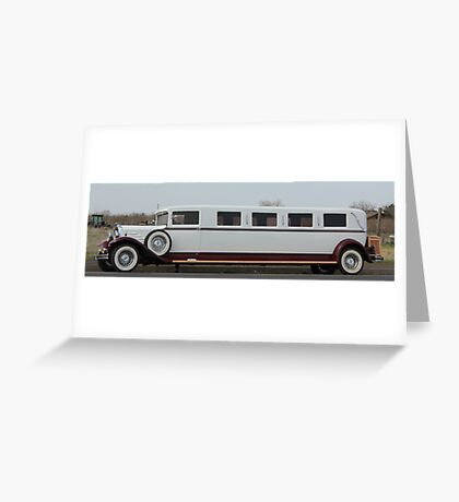Old Limo Greeting Card