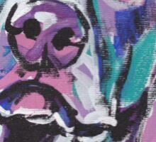 Weimaraner Dog Bright colorful pop dog art Sticker