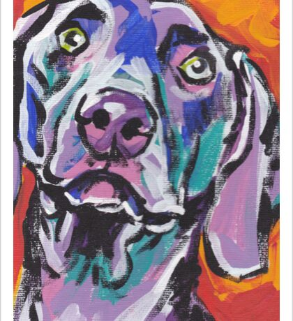 Weimaraner Dog Bright colorful pop dog art Sticker