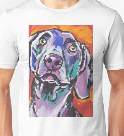 Weimaraner Dog Bright colorful pop dog art Unisex T-Shirt