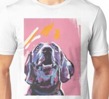 Weimaraner Dog Bright colorful pop dog art Unisex T-Shirt