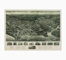 Panoramic Maps Aero-view of Somers-Point 1925 New Jersey One Piece - Short Sleeve