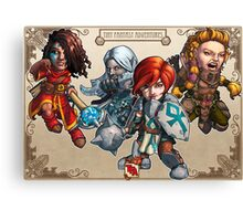 Tiny Fantasy Adventures: Core Party! Canvas Print
