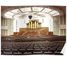 Organ at New LDS Tabernacle Poster