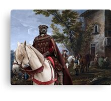 Staffordshire Bull Terrier Art - Resting in front of the tavern Canvas Print