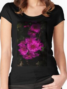 A Vivid Succulent Bouquet in Bold Pink and Fuchsia Women's Fitted Scoop T-Shirt