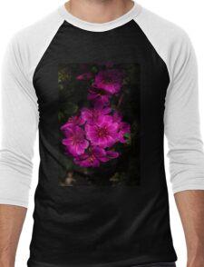 A Vivid Succulent Bouquet in Bold Pink and Fuchsia Men's Baseball ¾ T-Shirt