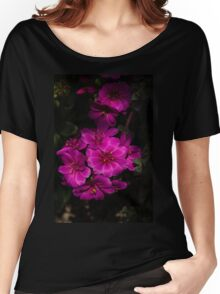 A Vivid Succulent Bouquet in Bold Pink and Fuchsia Women's Relaxed Fit T-Shirt