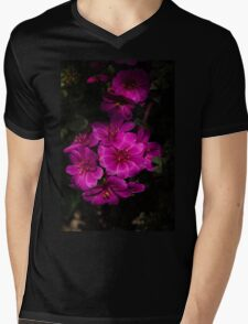 A Vivid Succulent Bouquet in Bold Pink and Fuchsia Mens V-Neck T-Shirt