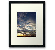 Sunset New Mexico Framed Print
