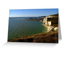Dover Docks and the Famous White Cliffs  Greeting Card