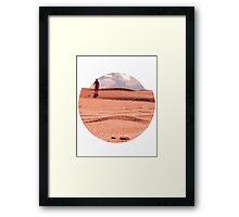 Men in desert Framed Print
