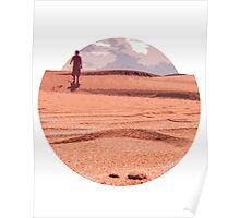 Men in desert Poster