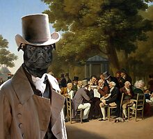 Staffordshire Bull Terrier Art - Politicians in the Tuileries Gardens by NobilityDogs