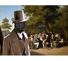 Staffordshire Bull Terrier Art - Politicians in the Tuileries Gardens Photographic Print