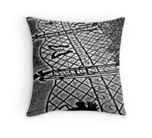 Sidewalk Shadows Throw Pillow