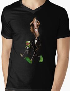 Steppin' Out with Jim and Kermit Mens V-Neck T-Shirt