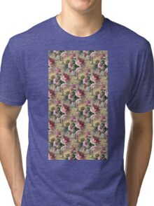 vintage flowers. Tri-blend T-Shirt