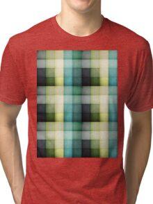 Chequered blues. Tri-blend T-Shirt