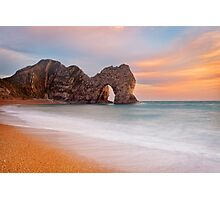 Durdle Door Sunset, Dorset Photographic Print