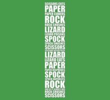 Rock, Paper, Scissors, Lizard, Spock by Bazzzinga