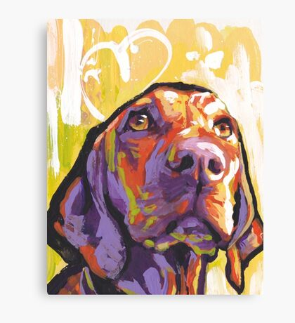 Vizsla Dog Bright colorful pop dog art Canvas Print