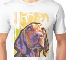 Vizsla Dog Bright colorful pop dog art Unisex T-Shirt