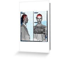 Rebel Rebel - David Bowie Mugshot Greeting Card