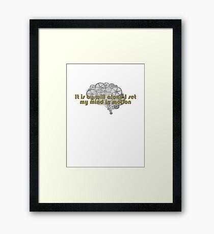 Mentat mantra Framed Print