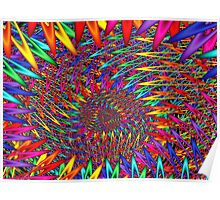 Rainbow Spikey Clips  Poster