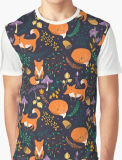 Foxes in magic forest Graphic T-Shirt