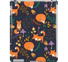 Foxes in magic forest iPad Case/Skin
