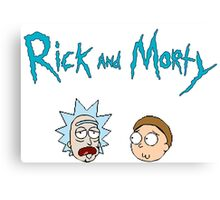 face rick and morty Canvas Print