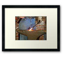 The Blacksmith Begins - Homestead, Texas Framed Print