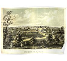 Panoramic Maps Waukesha Wisconson 004 Poster