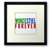 Ship Loyalty - Wincestiel by @I_am_the_Impala Framed Print