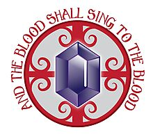 And the Blood shall sing to the Blood Photographic Print