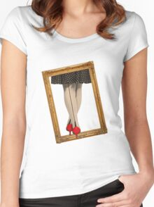 Hot Shoes - Red! Women's Fitted Scoop T-Shirt
