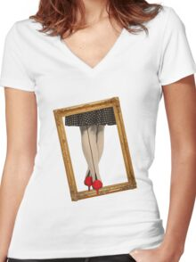 Hot Shoes - Red! Women's Fitted V-Neck T-Shirt