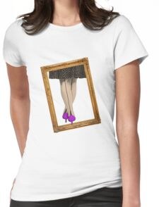 Hot Shoes - Purple! Womens Fitted T-Shirt