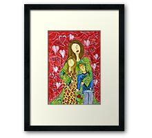 Mother's Heart Garden ~ it never ends Framed Print