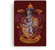 Gryffindor Faux Embroidery  Canvas Print