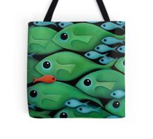 Green Fish School Tote Bag