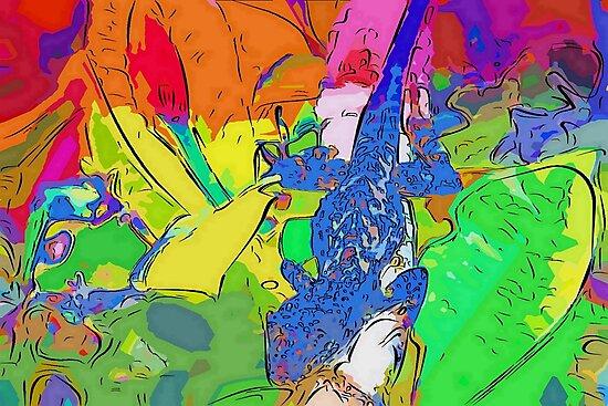 Blue lizard fantasia by ♥⊱ B. Randi Bailey