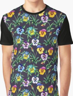 Pansy violet pattern Graphic T-Shirt