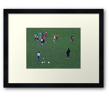 The body  language says it all Framed Print