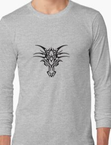 Dragon face brand - Black  Long Sleeve T-Shirt